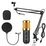 USB Condenser Microphone for Computer With Adjustable Metal Arm Stand Mic for Gaming Podcast Live Streaming for Mac & Windows PC - 24SevenDeals