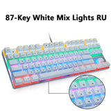 Metoo Gaming Mechanical Keyboard Game Anti-ghosting Russian/US Blue Black Red Switch Backlit USB Wired Keyboard For pro Gamer - 24SevenDeals