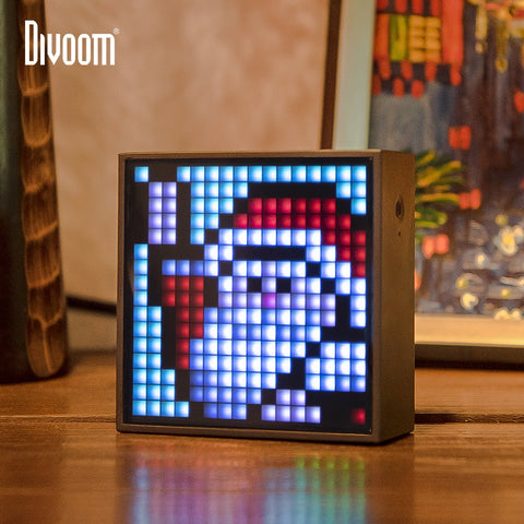 Divoom Timebox Evo Bluetooth Portable Speaker with Clock Alarm Programmable LED Display for Pixel Art Creation Unique gift - 24SevenDeals