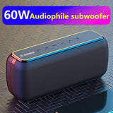 60W anti-drop bluetooth speaker waterproof portable column bass speaker subwoofer super bass USB/TF card music center sound bar - 24SevenDeals