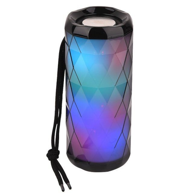 Portable bluetooth speaker tg167 bass color cool polygonal design waterproof wireless speaker, high-definition noise reduction, - 24SevenDeals