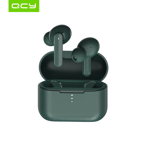 QCY T10 Bluetooth Wireless Headphones Dual-Armature in-ear Earphones APP intelligent control 4 microphone noise reduction - 24SevenDeals