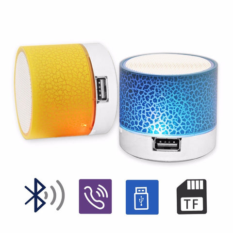 Mini Wireless Bluetooth Speaker Portable LED Music Player For Xiaomi iPhone Support TF Card USB Stereo Music Sound Subwoofer Box - 24SevenDeals