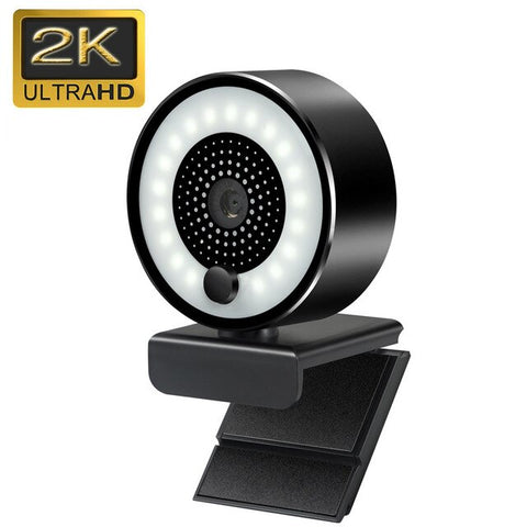 2K HD Webcam with Ring Light Beauty Camera  Full HD 1080p Webcam with Microphone Gaming Web Camera for Video Streaming Meeting - 24SevenDeals