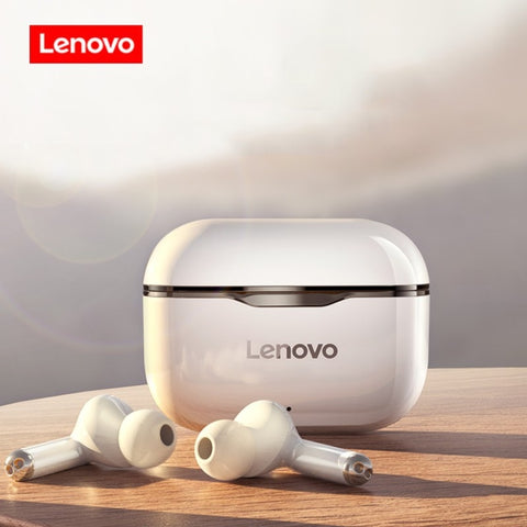 NEW Original Lenovo LP1 TWS Wireless Earphone Bluetooth 5.0 Dual Stereo Noise Reduction Bass Touch Control Long Standby 300mAH - 24SevenDeals