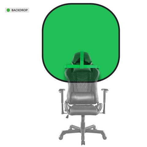 Neewer Chair-Attachable 2-in-1 Round Chromakey Green/Blue Screen PopUp Collapsible Backdrop for Gaming/Conference/Live Streaming - 24SevenDeals