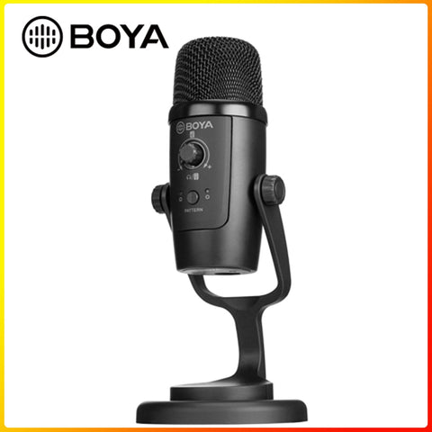 PM500 USB Microphone Computer Condenser PC Gaming Mic for Streaming Podcasting Vocal Recording for iMac Laptop Desktop Windows - 24SevenDeals