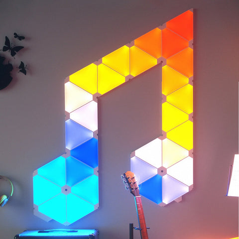 New Original Nanoleaf Triangle Night Full Color Smart Odd Light Work with Mijia for Apple Homekit Google Home Custom Setting - 24SevenDeals