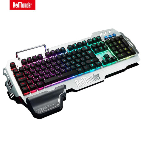 RedThunder K900 RGB Wired Gaming Keyboard Mechanical Feel 25 Keys Anti-Ghosting Ergonomics for PC Russian Spanish French - 24SevenDeals