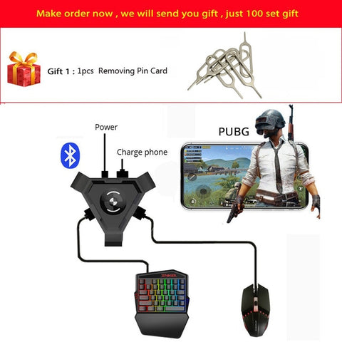 PUBG Mobile Gamepad Controller Gaming Keyboard Mouse Converter For Android ios Phone IPAD Bluetooth 4.1 Adapter Free Gift - 24SevenDeals