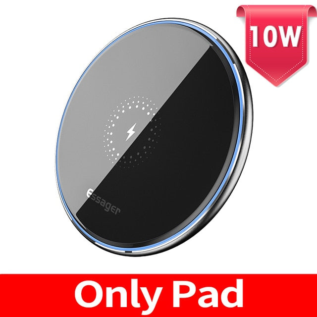 Essager 15W Qi Wireless Charger Fast Wireless Phone Charging Induction Pad For iPhone 12 11 Pro Max X Xiaomi mi 10 Samsung S20 - 24SevenDeals