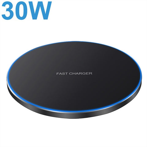 FDGAO 30W Fast Wireless Charger For Samsung S10 S20 S9 Note 20 10 9 USB C Qi Charging Pad for iPhone 12 11 XS XR X 8 Airpods Pro - 24SevenDeals