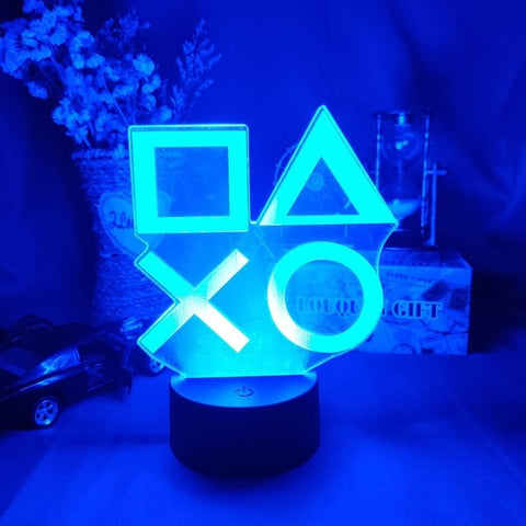 Gaming Room Desk Setup Lighting Decor LED Night Lamp on the table Game Console Icon Logo Sensor Bedside Light Gift for Kids - 24SevenDeals