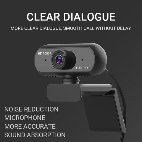 HD Webcam 1080P 110Degree Widescreen Web Camera with microphone Auto Focus Streaming Computer Camera for Video Recording Gaming - 24SevenDeals