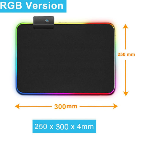 Gaming Mouse Pad Computer Mousepad RGB Large Mouse Pad Gamer XXL Mouse Carpet Big Mause Pad PC Desk Play Mat with Backlit - 24SevenDeals