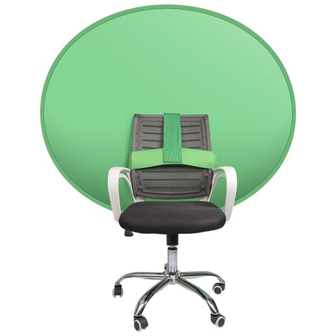 140x150cm Collapsible Portable Reflector Green Screen Chromakey Background Attachable Chair for Gaming Conference Live Streaming - 24SevenDeals