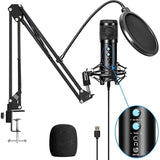 BM858 USB Condenser Microphone Kit for Computer, Professional Streaming Podcast, Live Streaming, Gaming,Sing,Studio - 24SevenDeals
