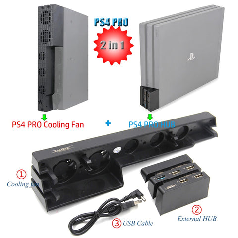 Cooler Cooling Fan Control for Sony PS4 Game Console Playstation Play Station PS 4 Pro Controller DC 5V USB Gadget Accessories - 24SevenDeals