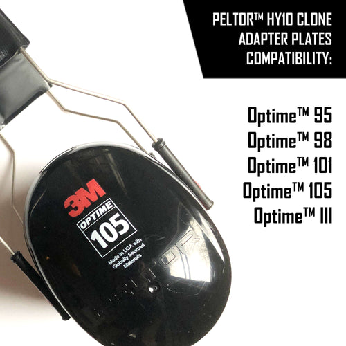 Adapter Plates for Peltor™ Optime™ and similar headsets | CLONE OF HY10 HYGIENE KIT PLATES