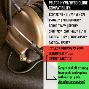 Adapter Plates for Peltor™ ComTac™ and similar headsets | CLONE OF HY79 / HY80 HYGIENE KIT PLATES