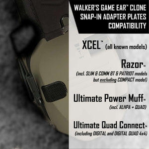 Adapter Plates for Walker's® Razor Slim and similar headsets