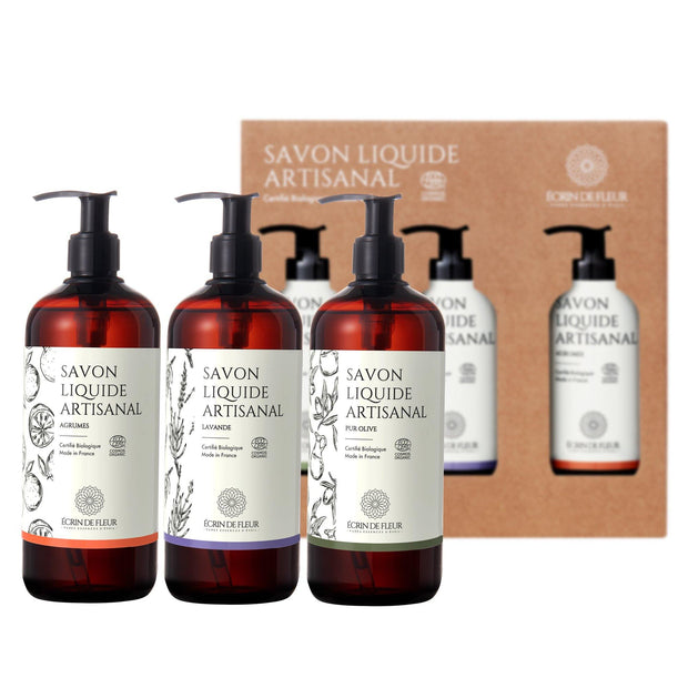 Set of 3 Liquid Soaps - Pure Olive, Lavender, Citrus 3X500ml - TRIVESA SRL