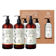 Set of 3 Liquid Soaps - Argan & Orange Tree Blossom, Almond, Citrus 3 x 500ml - TRIVESA SRL