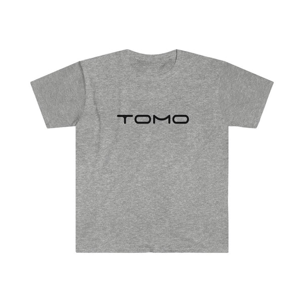 TOMO Men's Fitted Short Sleeve Tee - Black Text