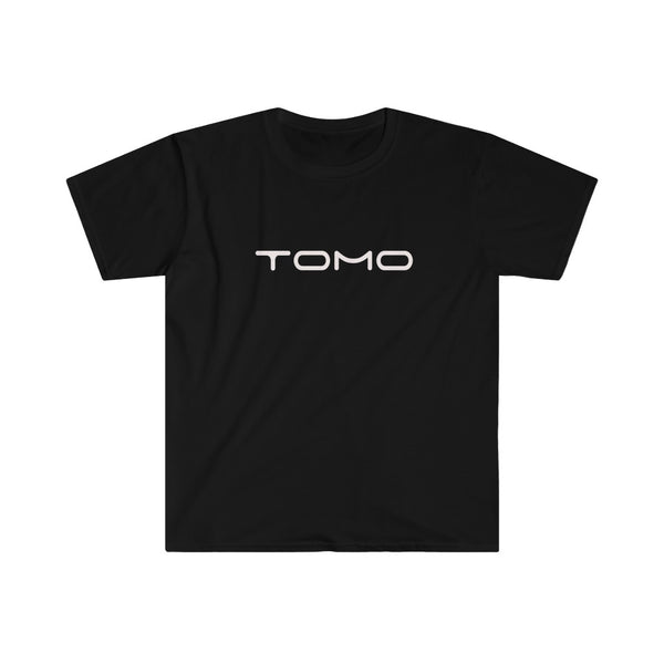 TOMO Men's Fitted Short Sleeve Tee - White Text