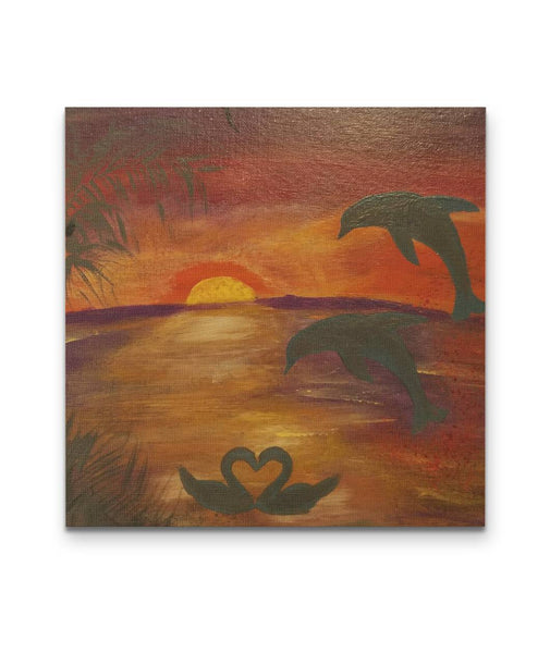 Sunset by Reine KKL - Square Canvas Painting