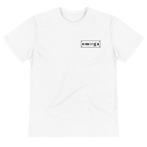 Black Logo on White T-Shirt