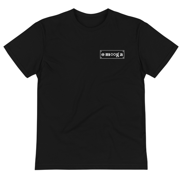 White Logo on Black T-Shirt