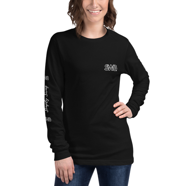 Women's Simply Swag Cursive Logo Long Sleeve Tee