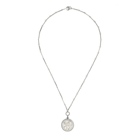 Silver Elizabeth Coin Necklace