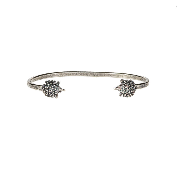 Silver Hedgehog Bangle