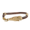 Image of Wolf Head Leather Bracelet