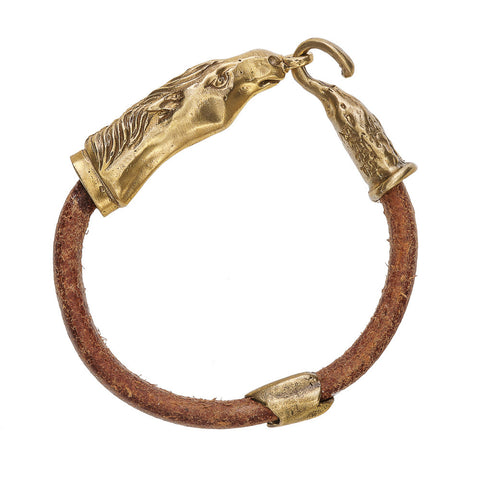 Horse Head Leather Bracelet