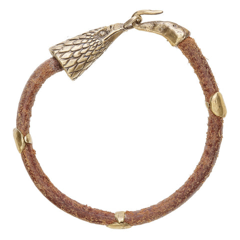 Hawk Head Leather Bracelet