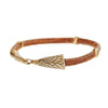 Image of Hawk Head Leather Bracelet