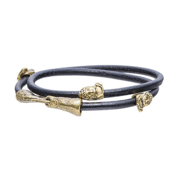 Buddha Leather Bracelet