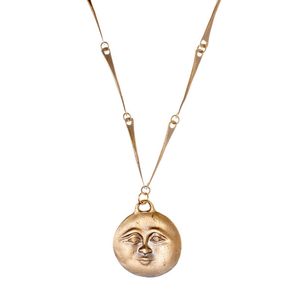 Sun and Moon Coin Necklace