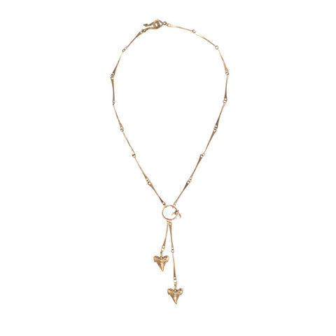 Shark Tooth Lariat Necklace