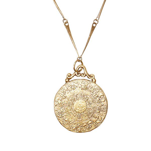 Large Zodiac Coin Necklace