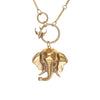 Image of Elephant Trunk Up & Bird Circle Necklace