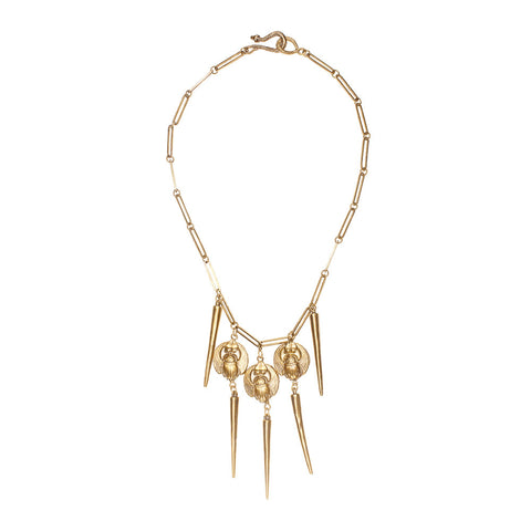 Scarab & Spikes Necklace