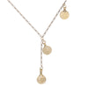 Image of 4 Lucky Coins on Vintage Chain Lariat Necklace