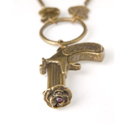 Peace Gun Necklace