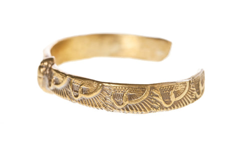 Winged Scarab Bangle