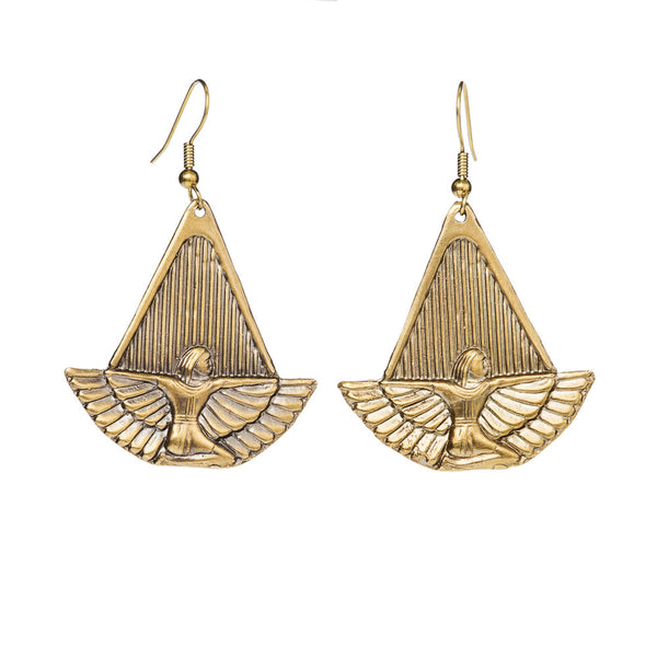 Egyptian Goddess Isis Earrings