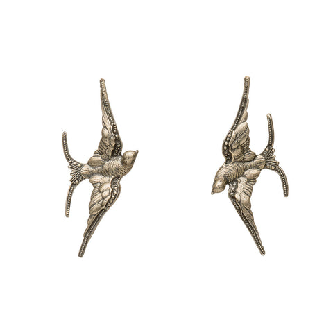 Reclaimed Sterling Soaring Bird Earrings